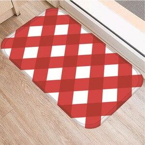 Image 5 - Celosía geométrica alfombra decorativa antideslizante para dormitorio, suelo de cocina, sala de estar, baño, 40x60cm