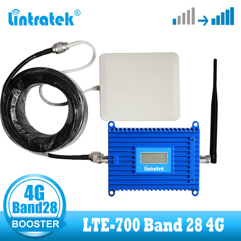 B28 4G LTE 700 mhz signal booster cellular amplifier booster 4g internet Band 28 LTE700 Cellphone internet repeater with ALC
