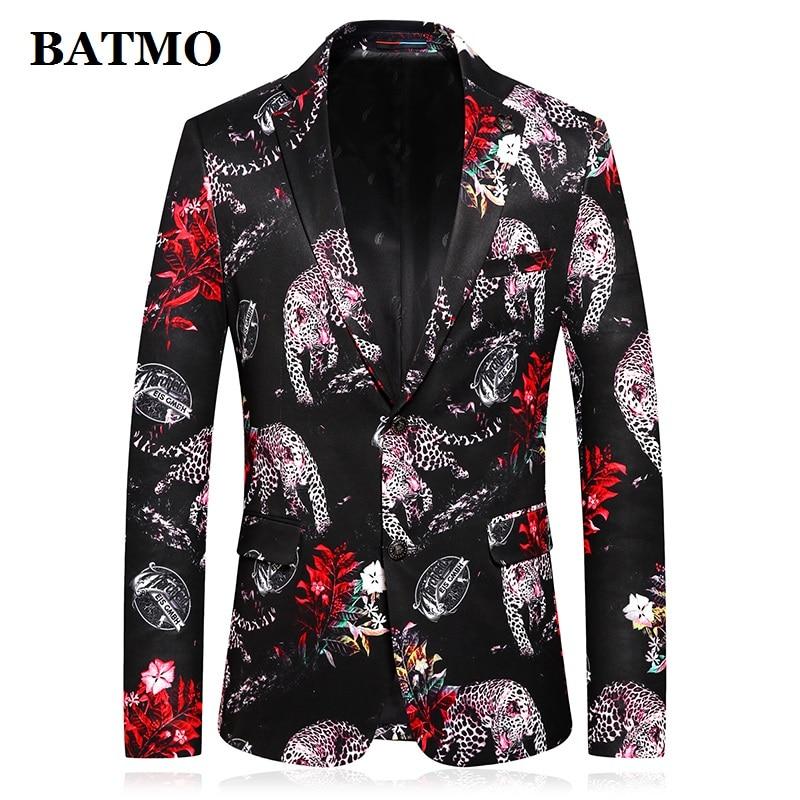 BATMO New Arrival Printed Slim Casual Blazer Men,men's Printed Jackets,plus-size M-4XL C772