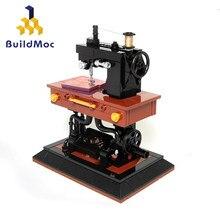 Buildmoc clássico criativo MOC-41609 máquina de costura compatível com blocos ortografia brinquedo conjunto blocos de construção meninas presentes