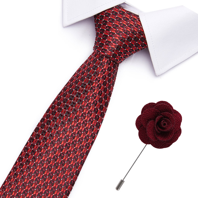 New Designer Solid Plain Men Tie Pocket Square Necktie&Pin Set Red Yellow Green Silk Ties Suit Wedding Business
