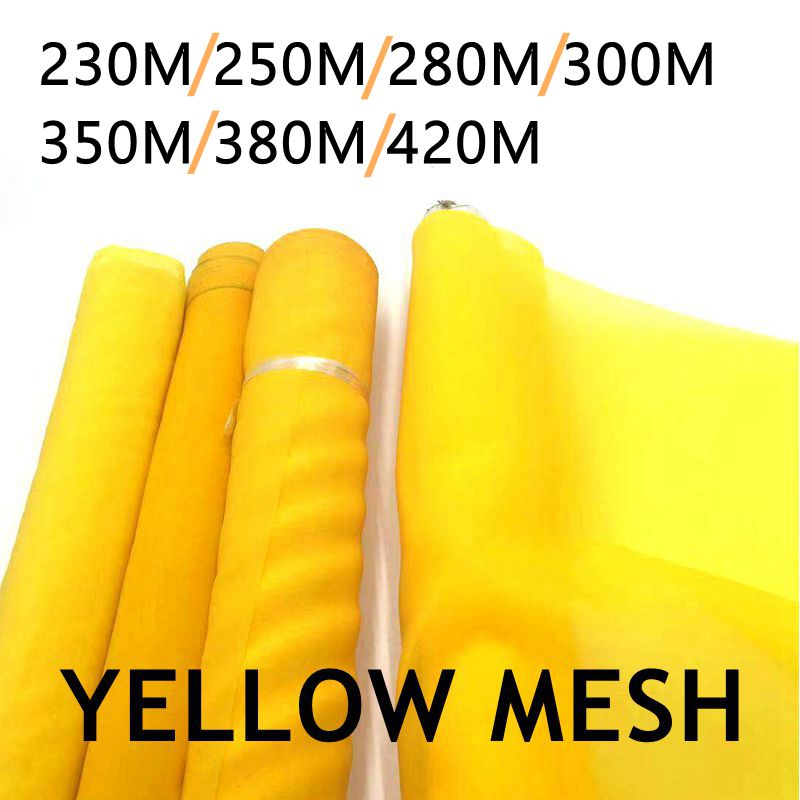 5/10 Meters 120CM Width 230-420M Silk Screen Printing Mesh 90T-165T Yellow Polyester Durable Screen Printing Mesh Fabric