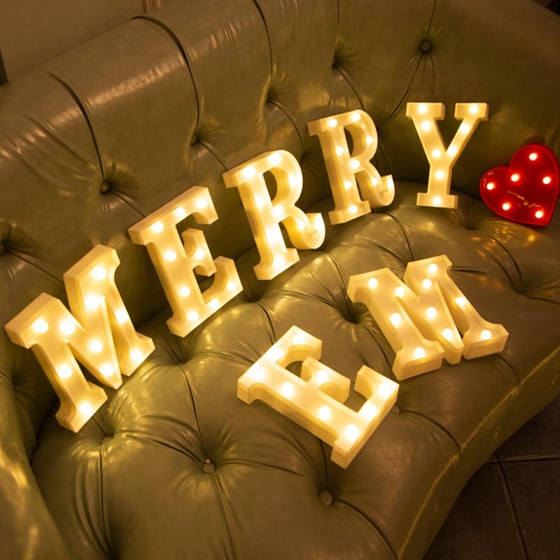 Светодиодный светильник с буквенным принтом, домашний декор, настенная Подвесная лампа 3D 26, Английский алфавит, для вечерние, свадьбы, дня р...