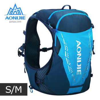 SM Size AONIJIE C9103 Ultra Vest 10L Hydration Backpack Pack Bag With 2pcs 420ml Soft Water Flask Hiking Trail Running Marathon