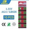 Eunicell 10 шт. щелочные батарейки 1 55 в AG4 LR626 кнопки 377A 377 LR66 SR626SW SR66 SR62 AG 4 для часов игрушки
