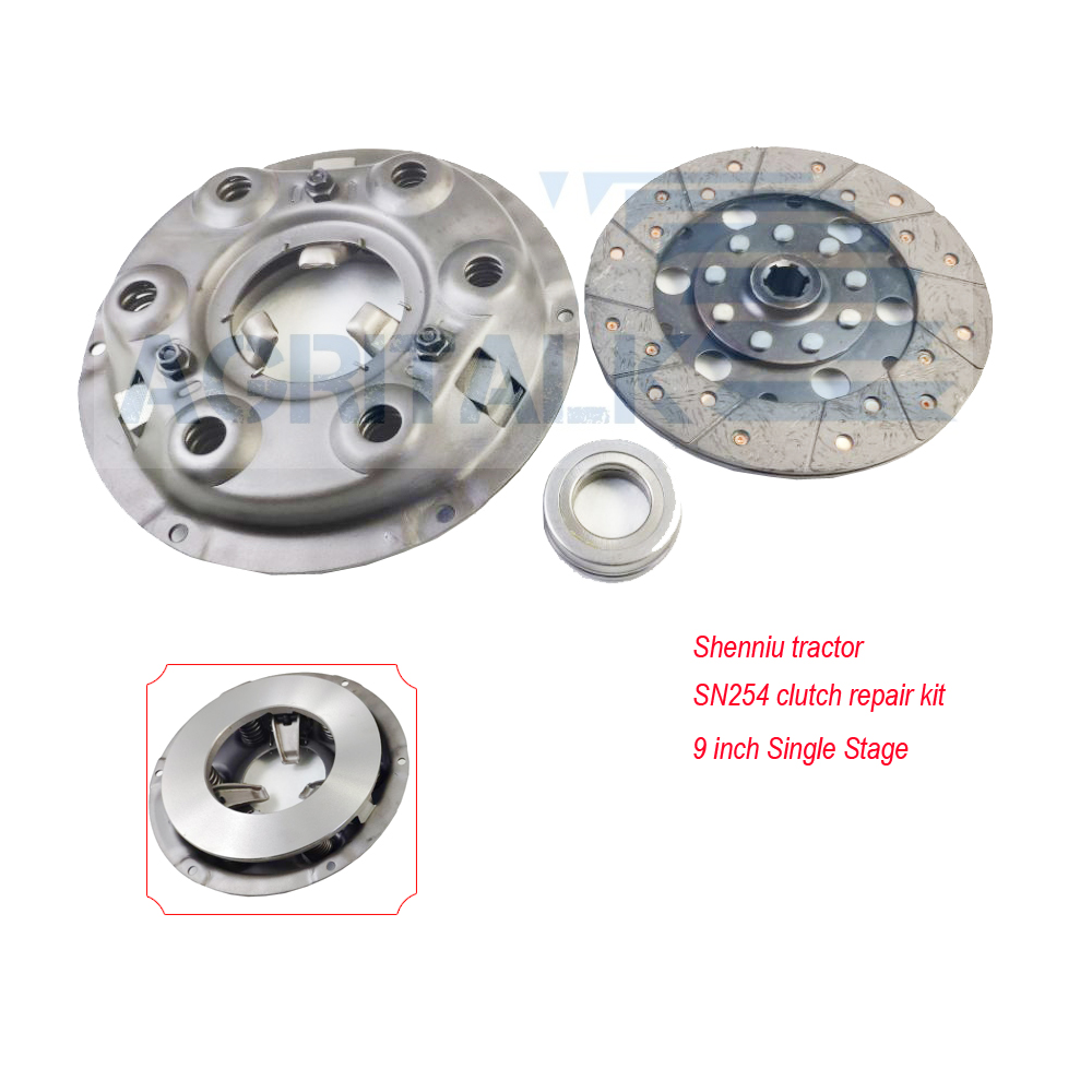 The 9 Inch Single Stage Clutch With Driven Disc And Release Bearing For Shenniu Bison SN250 / SN254 With Hubei Brand Engine 295T