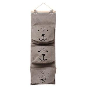 Image 3 - 벽 교수형 욕실 목욕 장난감 가방 주최자 리넨 옷장 어린이 파우치 아기 목욕 완구 도서 화장품 잡화