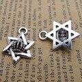 20 штук Компоненты для изготовления ювелирных изделий, античное серебро Цвет Корона гексаграмма Подвески 20x15mm