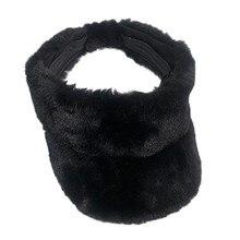 Женские козырьки, женская зимняя теплая уличная плюшевая шапка, шапка-ведро, шапки