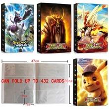 Album de cartes Pokemon de 9 poches, 432 pièces, classeur, carte de jeu, dessin animé, livre, Collection, liste chargée, jouet, cadeau pour enfants