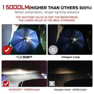 Image 2 - NOVSIGHT H4 Hi Lo BeamหลอดไฟLED 90W 15000LM H7 H11 9005 9006 LEDรถยนต์ไฟหน้าด้านหน้า 6000K 12V 24V