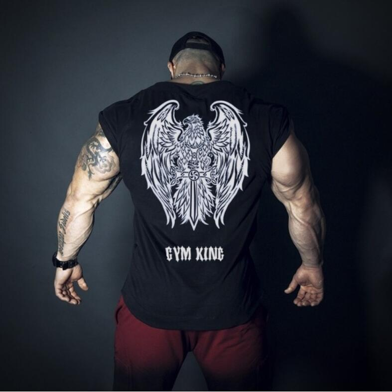 Summer mens cotton Short sleeve t shirt gyms Fitness bodybuilding shirts male Brand tee tops casual sporting clothing