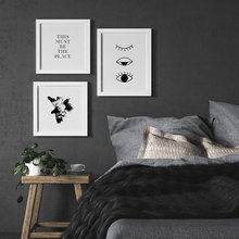 Black White Poster Abstract Canvas Painting Sleepy Eyes Wall Art Print Quote Modern Picture For Bedroom On The Wall Home Decor modern black swan and white swan canvas painting print poster picture home bedroom wall art painting decoration can be customize