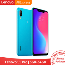 Global ROM Lenovo S5 Pro 6GB 64GB Snapdragon 636 Octa Core Smartphone 20MP Quad Cameras 6.2 Inch Octa Core 4G Cellphone