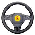 Оплетка на руль для Volkswagen VW Gol Tiguan Passat B7 Passat CC Touran Jetta Mk6  с оригинальной кожей