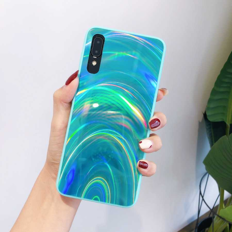Rainbow Espelho Do Laser Glitter Soft Case Para Samsung Galaxy A10 A20 A30 A50 A70 A11 A20S A30S A01 A31 S9 S10 Plus M21 A41 A51 A71 A21S A10S M30S M11 S8 A21 M10 Capa