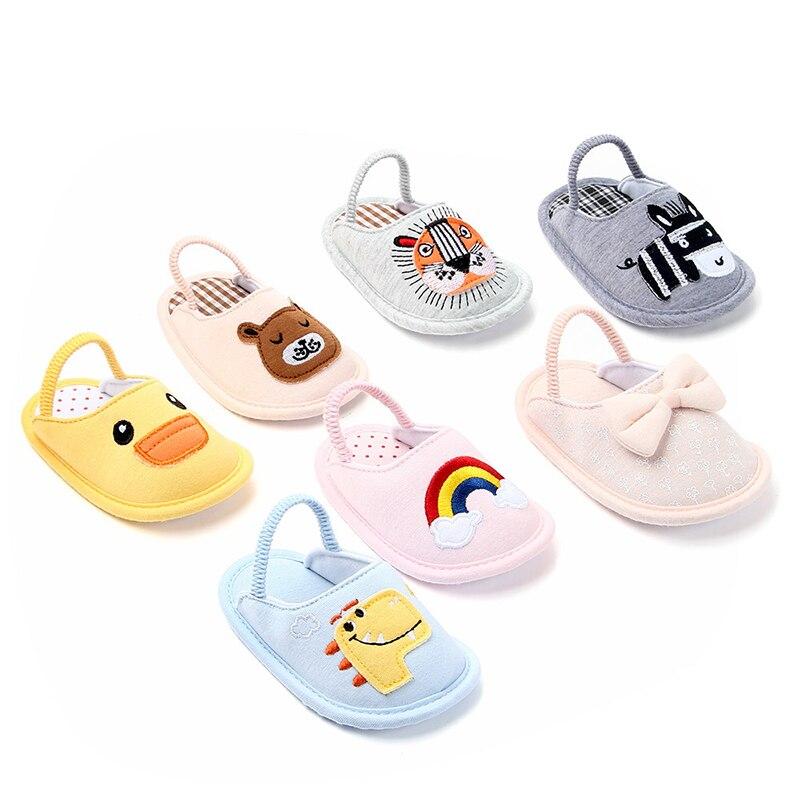 0-18 Months First Walkers 2019 Newborn Baby Boy Girl Shoes Kids Soft Sole Cotton Slipper Anti-slip Crib Shose Baby