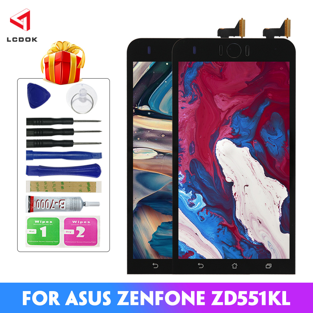 100% Tested <font><b>LCD</b></font> For <font><b>Asus</b></font> <font><b>Zenfone</b></font> <font><b>Selfie</b></font> <font><b>ZD551KL</b></font> Z00UD <font><b>LCD</b></font> Display Touch Screen Digitizer Assembly Panel Replacement Parts <font><b>Lcd</b></font> image