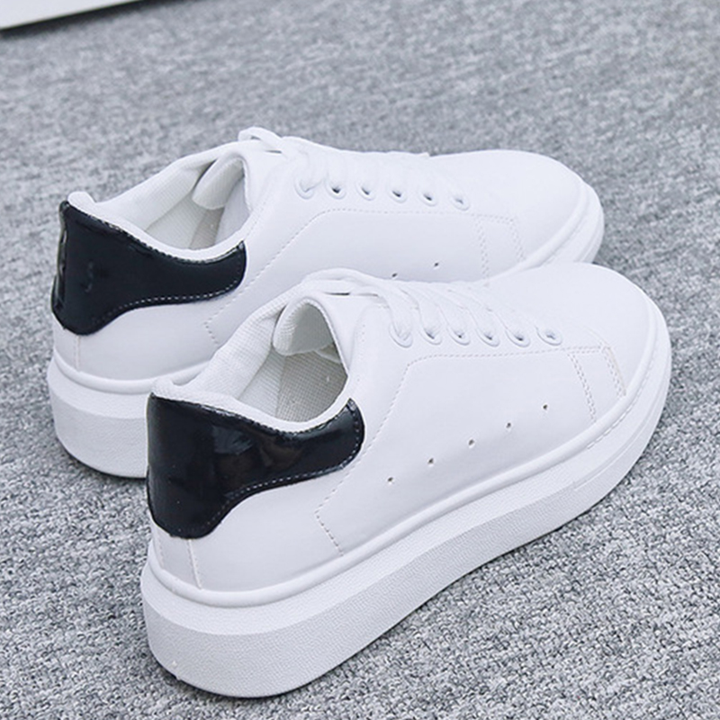 Platform Sneakers Women Shoes 2019 Chunky Sneakers Lace-up White Shoes Woman Sneakers Trainers Basket Femme Tenis Feminino
