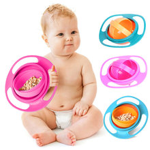 Universal Gyro Bowl Baby Feeding Dish 360 Rotate Spill-Proof Baby Gyro Bowl Children's Tableware Baby Gyro Bowl Kids Eating Bowl(China)