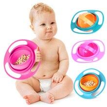 Tableware Baby Eating-Bowl Feeding-Dish Kids Spill-Proof Universal Children's 360 Gyro