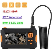 4.3 Inch HD 1080P 16.4Ft 8LED 8mm Endoscope Camera Borescope Inspection WiFi IP67 Waterproof Car Repair Inspection