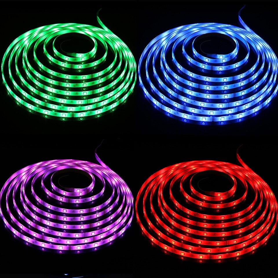 Smart RGB LED Strip Light SMD Waterproof RGB Tape DC12V 10M 33Feet LED Strip Light Flexible Stripe Lamp IR WIFI Controller (34)