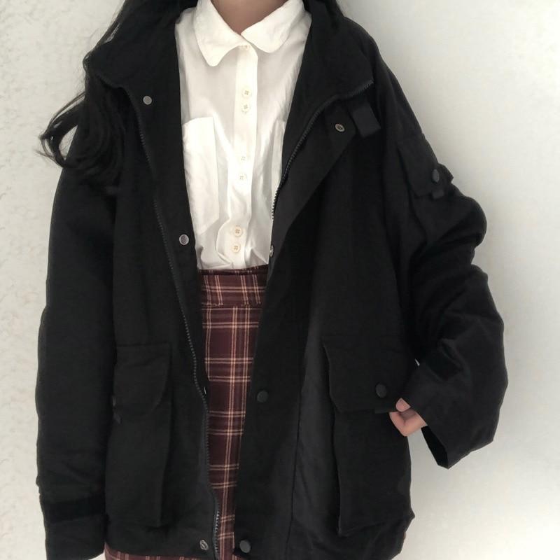 Spring Windbreaker Loose Bf Trench Female Coat Girls Women Jacket Students Plus Size Outerwear Coats Basic Jackets Hood Overcoat