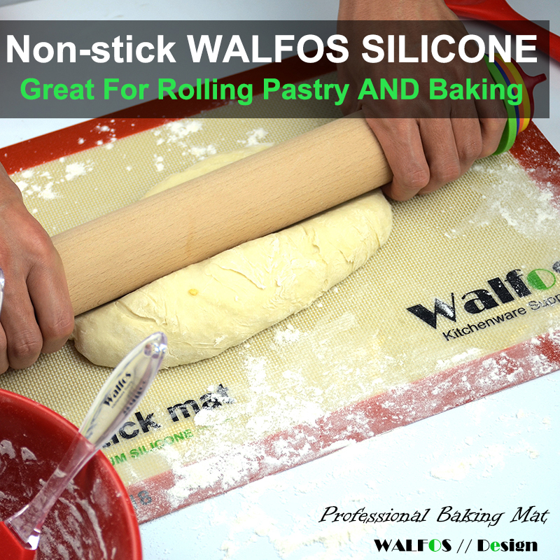 Non-Stick Baking Silicone Mat-Great for Rolling Pastry and Baking
