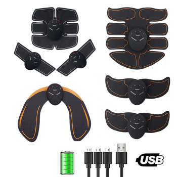 EMS Electric Muscle Stimulator Fitness Massage Abdominal Trainer Toner Body Slimming Massager Home Gym Equiment USB Rechargeable 1