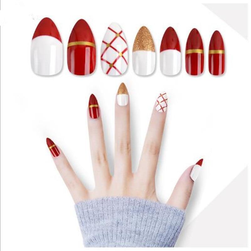 manicure conjunto unhas falsas unhas removíveis stickerdecal