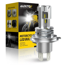 AUXITO-faros Led H4 para motocicleta, lámpara con Chip CSP, HB3, 9003, para Honda nc750x, hornet 600, shadow, cb500x, xr, 250, 1 Uds.