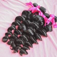 Luvin, перуанские натуральные волнистые волосы, натуральные кудрявые пучки волос, необработанные волосы для наращивания, 30 дюймов, 1, 3, 4 пряди