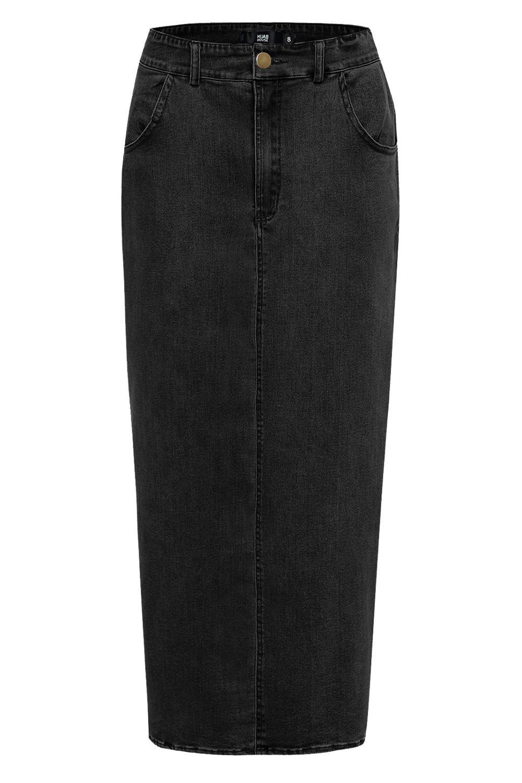 Fashion Women's Stretch denim bag hip Long Skirt Princess Elegant Modest Muslim Bottoms longer Party Islamic Clothing F1404