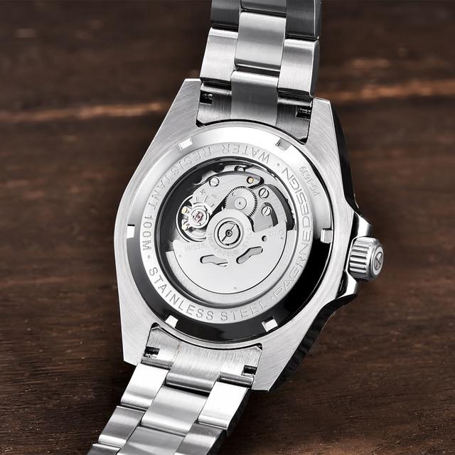 2020 PAGRNE DESIGN Top Brand Luxury Kelpie Series Watch Men Automatic Mechanical Wristwatch Stainless Steel Relogio Masculino 5