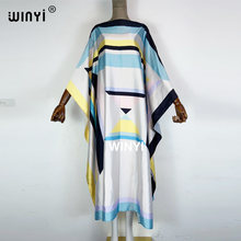 2021 WINYI African boho dress maxi sukienka Print Bohemia Loose Elegant Muslim Abaya Bazin Robe Gowns Broder Riche فستان زهري