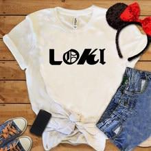 Nowy gorący Loki kobiety klasyczny T-shirt Tv Play Unisex bluza z literami różdżka Trenging szczupłe dopasowanie topy wakacje S-3xl fajna koszula damska