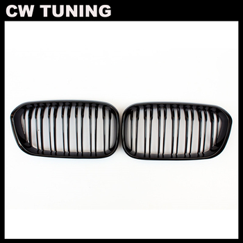 A Pair F20 LCI Top Quality ABS front bumper grille for BMW facelifted 1 Series F21 120i 118i 118d 116i M135i 2015 - 2018 image