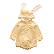 Baby Girl Rompers Cute Rabbit Costume Autumn Cotton Clothes Infant Clothing Solid Newborn outfit
