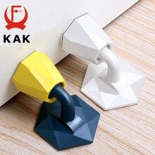 KAK diamant forme Silicone bouchon de porte mise à niveau conception d'aspiration pas de poinçon autocollant arrêt de porte arrêt de porte coupe-vent matériel de porte