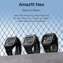 Nova neo relógio inteligente bluetooth smartwatch 5atm freqüência cardíaca rastreamento 28 dias de vida útil da bateria para android ios telefone em estoque para amazfit