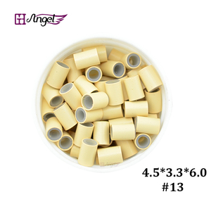 Image 2 - Wholesale 25000pcs 4.5*3.3mm Silicone Copper Hair Extension  tube beads for micro ring hair extension  hair ring