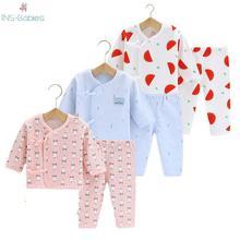 Newborn baby girls clothes Cotton Baby Sleep Suit for boys and girls Four Seasons underwear long sleeve Sleepwear Pajamas Infant