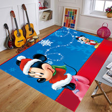 160x80cm Christmas Play Mat Rug Anti-slip Disney Carpet Mickey Print Floor Mat Rugs for Party Home Christmas Decoration(China)