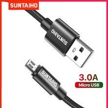 Cable Micro USB de carga rápida para móvil, Cable de datos de 1m, 2m y 3m para Xiaomi Redmi 4X, Samsung S7, S6, J7, PS4