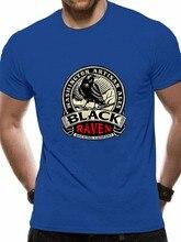 Novo preto corvo cerveja camiseta masculina eua tamanho em1 clássico moda estilo camiseta