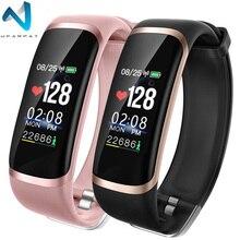 Wearpai SmartWatch hommes femmes M4 fréquence cardiaque Notification de la pression artérielle rappel dappel prendre Photo montre de Sport pour iOS et Android