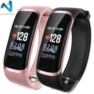 Image 1 - Wearpai SmartWatch hommes femmes M4 fréquence cardiaque Notification de la pression artérielle rappel dappel prendre Photo montre de Sport pour iOS et Android