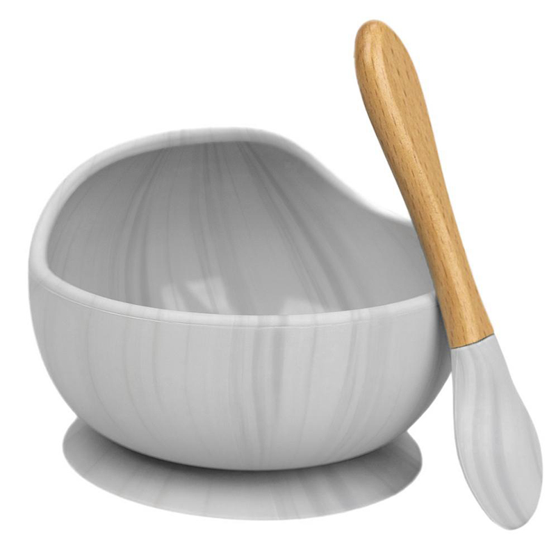 2 pcs set criancas dinnerware pratos bpa livre de silicone de succao do bebe tigela com