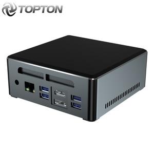 Topton AMD Ryzen 5 3550H Quad Core Mini PC Vega 8 Graphic 3x4K Display DP HDMI2.0 Type-C Desktop Gaming Computer NVMe AC WiFi BT